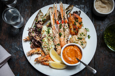 Grilled Spanish Seafood Platter