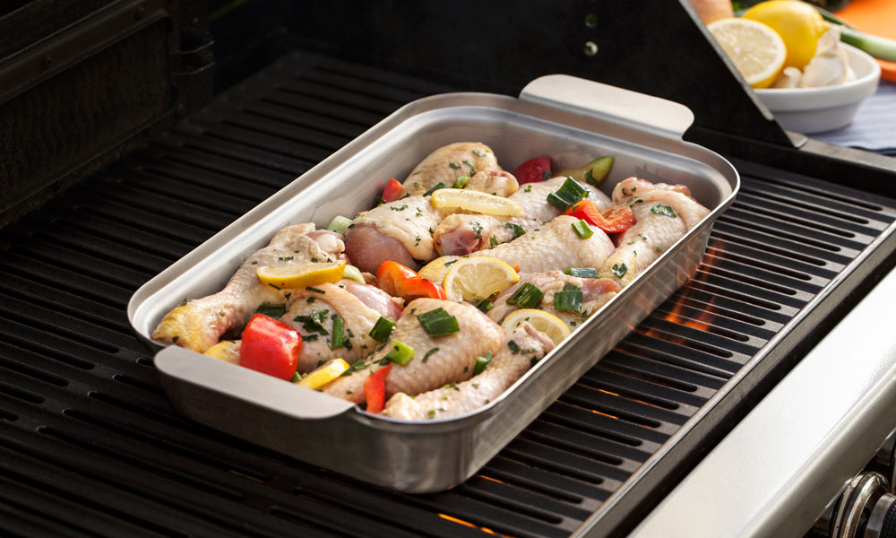 Fervor Grill Gas Grill Barbecue Roasting Dish